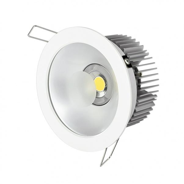 COB abajo se enciende, luz llevada del punto, anti-reflejo llevado abajo de luz, la luz integrada de alimentación hacia abajo, CREE COB llevado abajo de luz