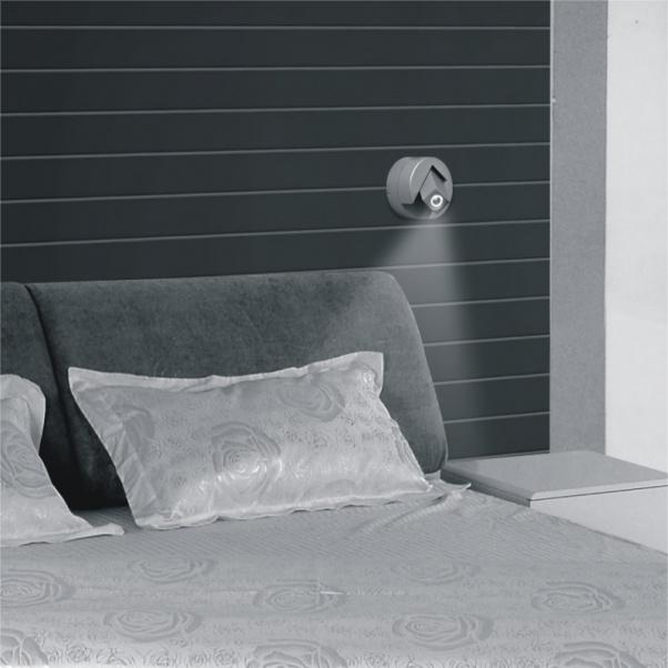 Led de luz de pared, de mesa de noche de luz, Led proyecto hotelero, luz montado en la pared del LED, lámpara de pared